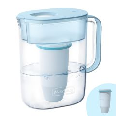 Maxblue Zero TDS Water Filter Pitcher, Reduces Lead, Fluoride, Chlorine and More, 6-Stage Filtration System, BPA Free, MB-PT-08B