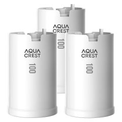 AQUACREST Faucet Water Filter, Compatible with DuPont FMC103X, WFFMC100X Faucet Mount Water Filtration Cartridge