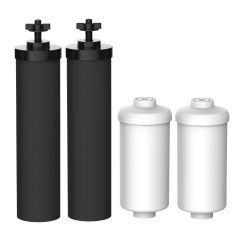 FilterLogic Water Filter, Compatible with Black Filters (BB9-2) & Fluoride Filters (PF-2), Combo Pack FL-7990