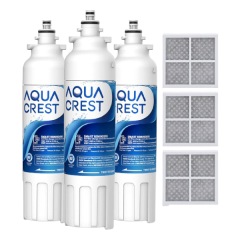 AQUACREST  Refrigerator Water Filter and Air Filter, Replacement for LG LT800P, ADQ73613402, Kenmore Elite 9490, ADQ73613408, ADQ75795104 and LT120F
