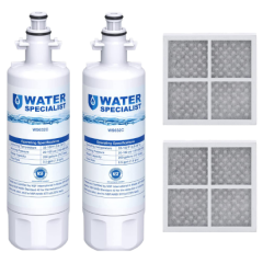 Waterspecialist Refrigerator Water Filter and Air Filter, Replacement for LG LT700P, Kenmore 9690, 46-9690, ADQ36006102 and LT120F