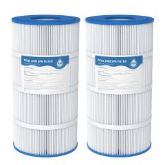 AQUACREST  Replacement for Pool Spa Filter Cartridges Pleatco PA90, CX900RE, C900, Unicel C-8409, Filbur FC-1292, Posi-Clear Sta-Rite PXC95, Clearwater II ProClean 100, 90 sq. ft, Pack of 2
