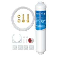 Waterdrop inline Ice Maker and Refrigerator Filter with Direct Connect Fittings