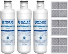 Waterspecialist Refrigerator Water Filter and Air Filter, Replacement for LG LT1000P, LT-1000PC MDJ64844601 and LT120F