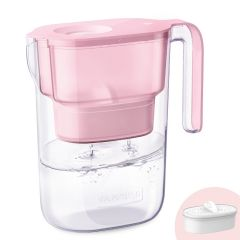 Water Pitcher with Filter for Home, Long-Life Elfin, Reduce Lead, Fluoride, Chlorine, BPA Free