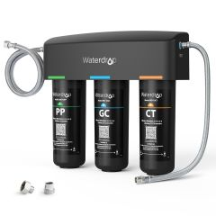 Waterdrop 3-stage UnderSink Water Filter, Direct Connect Filtration System WD-TSA